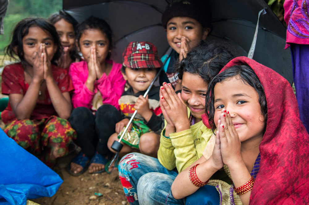 Despite losing everything, the children in Sindhupalchok remarkably kept their smiles and playfulness alive.