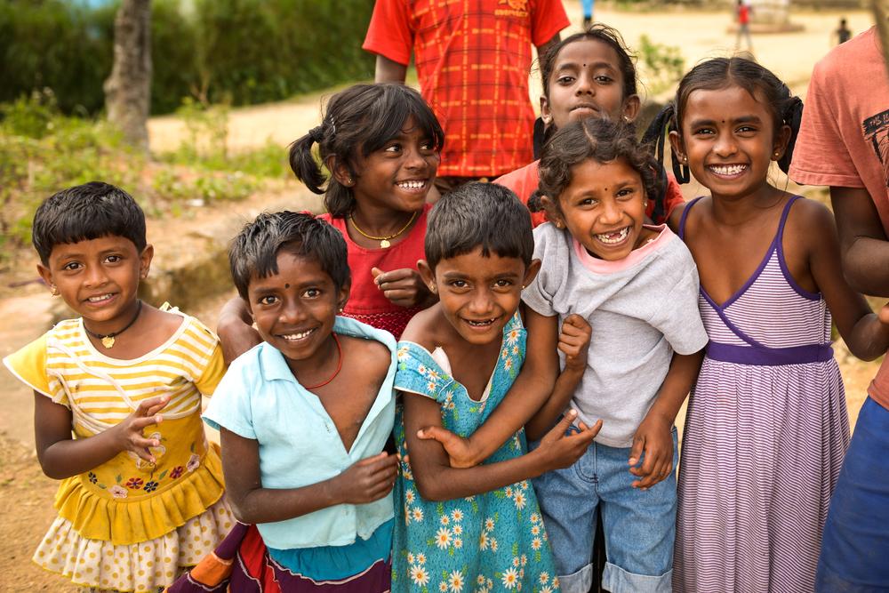 Beautiful children near Adam's Peak, Sri Lanka.