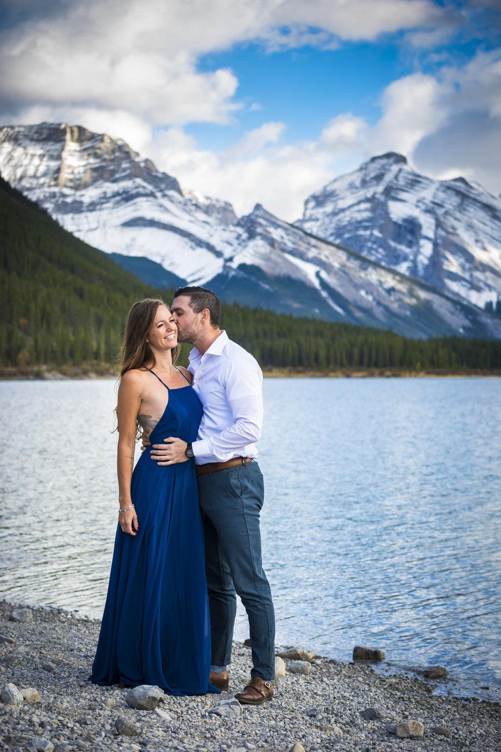 Natasha & Josh's engagement in spray lakes