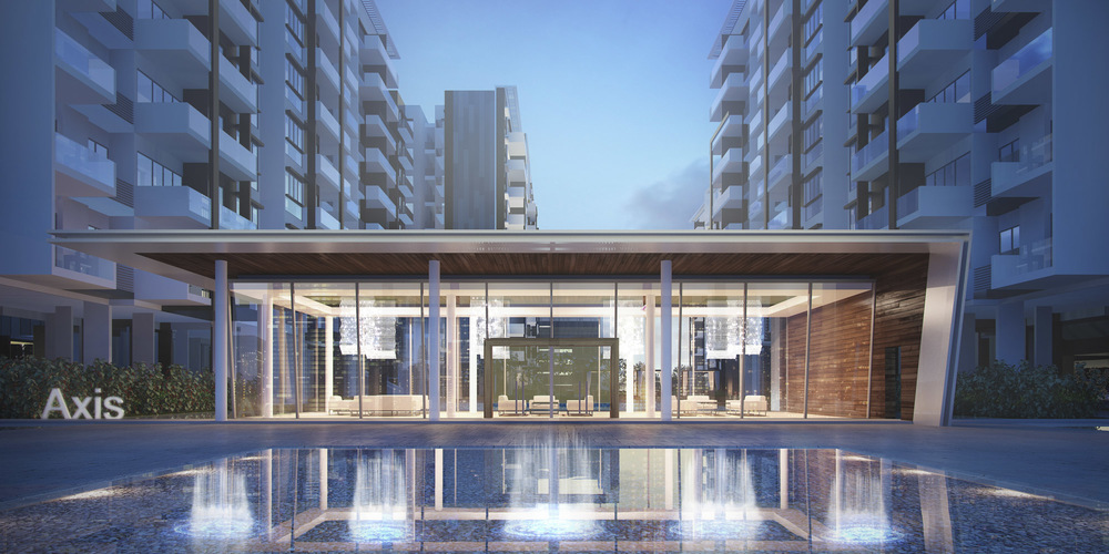 Axis Residences Entrance