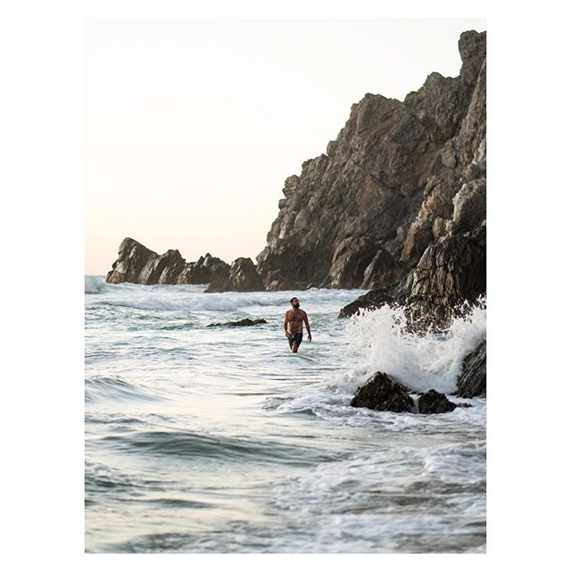 Exploring Todos Santos this week, @thiswildidea and I found some of the best spots yet. Each evening brings in cooler temperatures, surreal light and gnarly waves. Perfect for the last swim of the day.