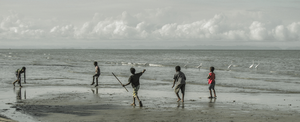 Fishermen's kids. Honduras