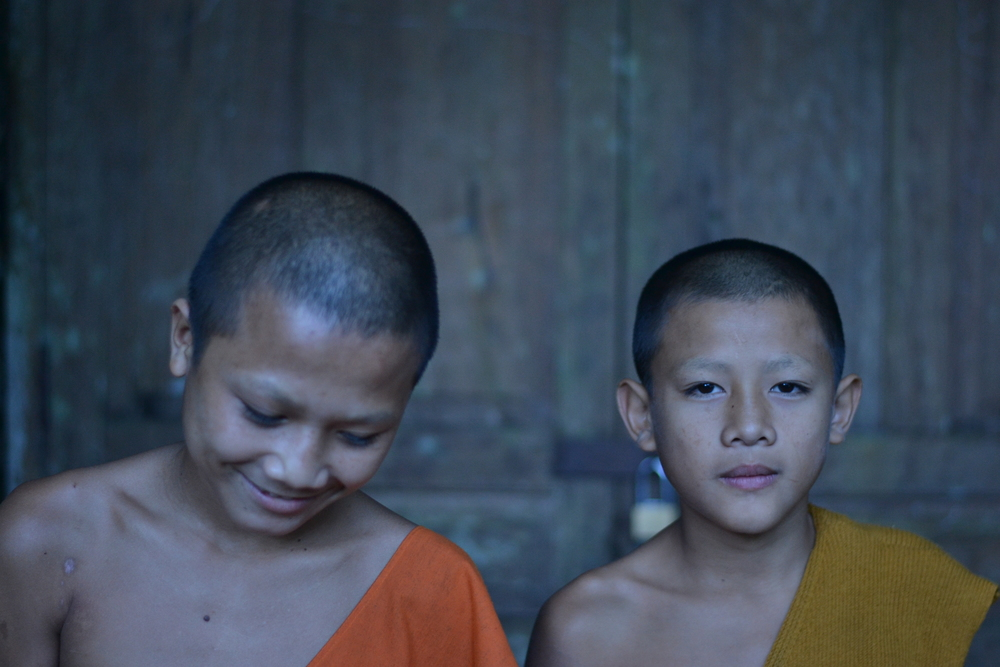 Novice monks. Chompet district, Laos