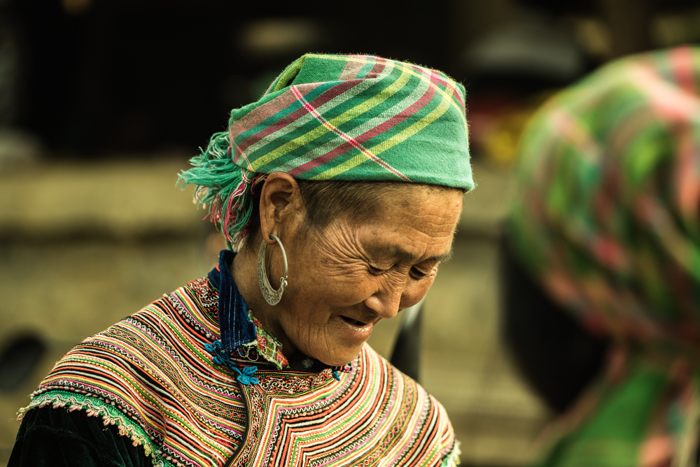 Flower Hmong woman. Can Cau, Vietnam