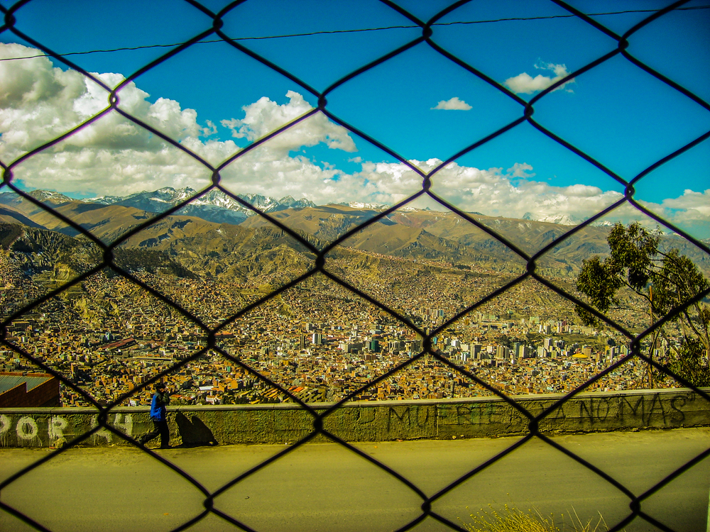 Edge of La Paz, Bolivia