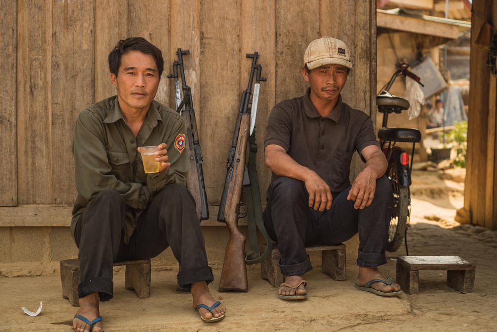 Village Police. Ban Nong Khouay, Laos
