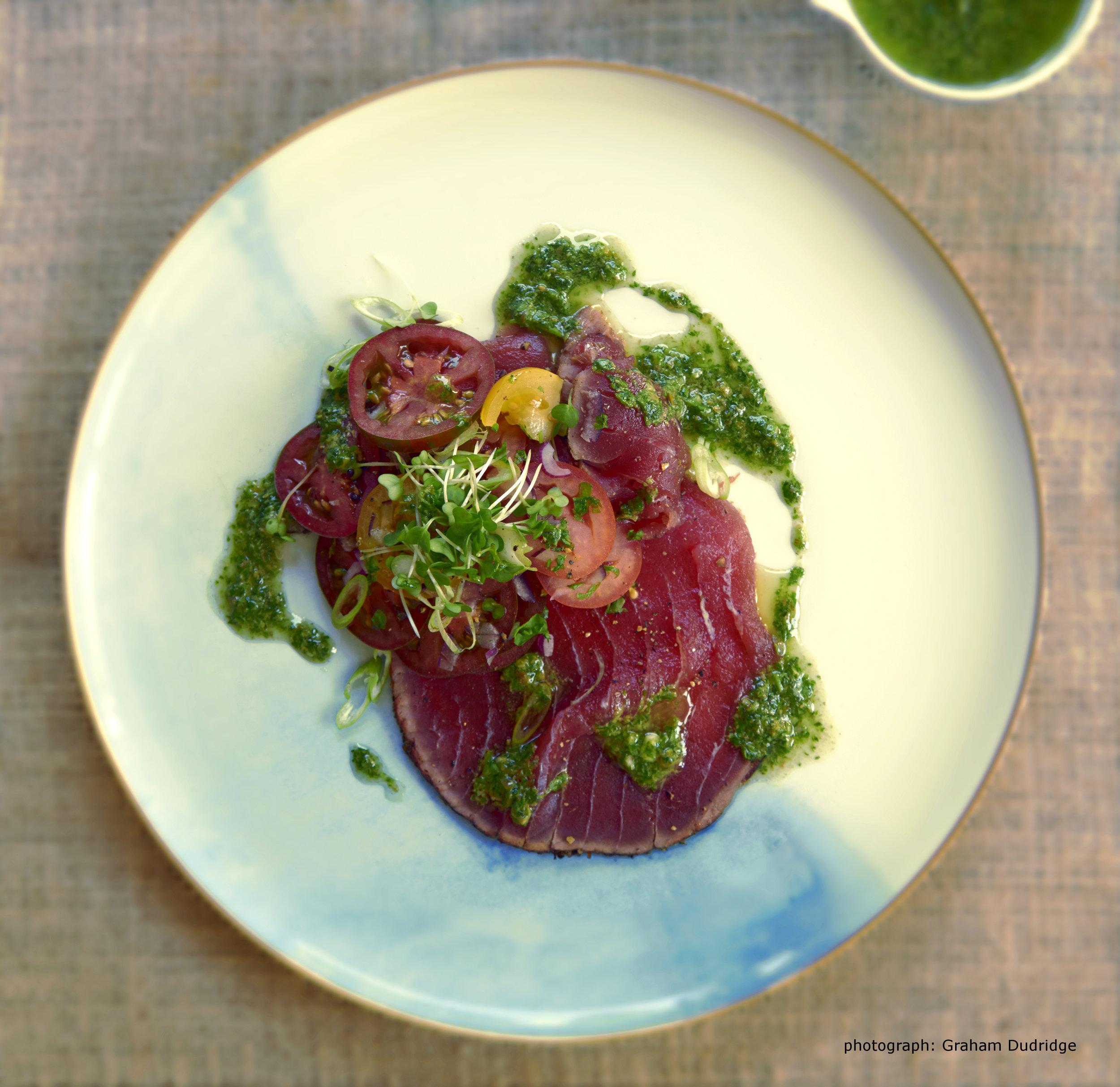 tuna salsa verde