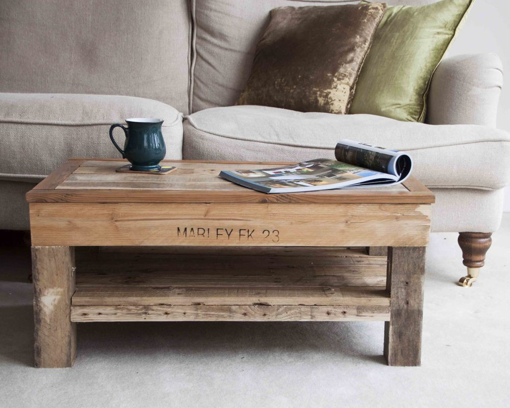 Chunky Wooden Coffee Table Palletables Uk
