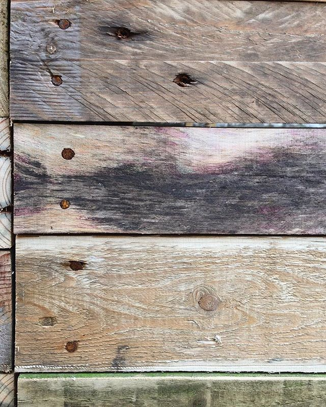 We used some reclaimed nails from old pallets for the front of the desk. We felt it fitted in with the rustic look the client wanted for this project, as opposed to using shiny new nails or screws.