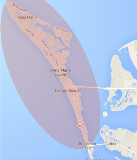 delivery radius