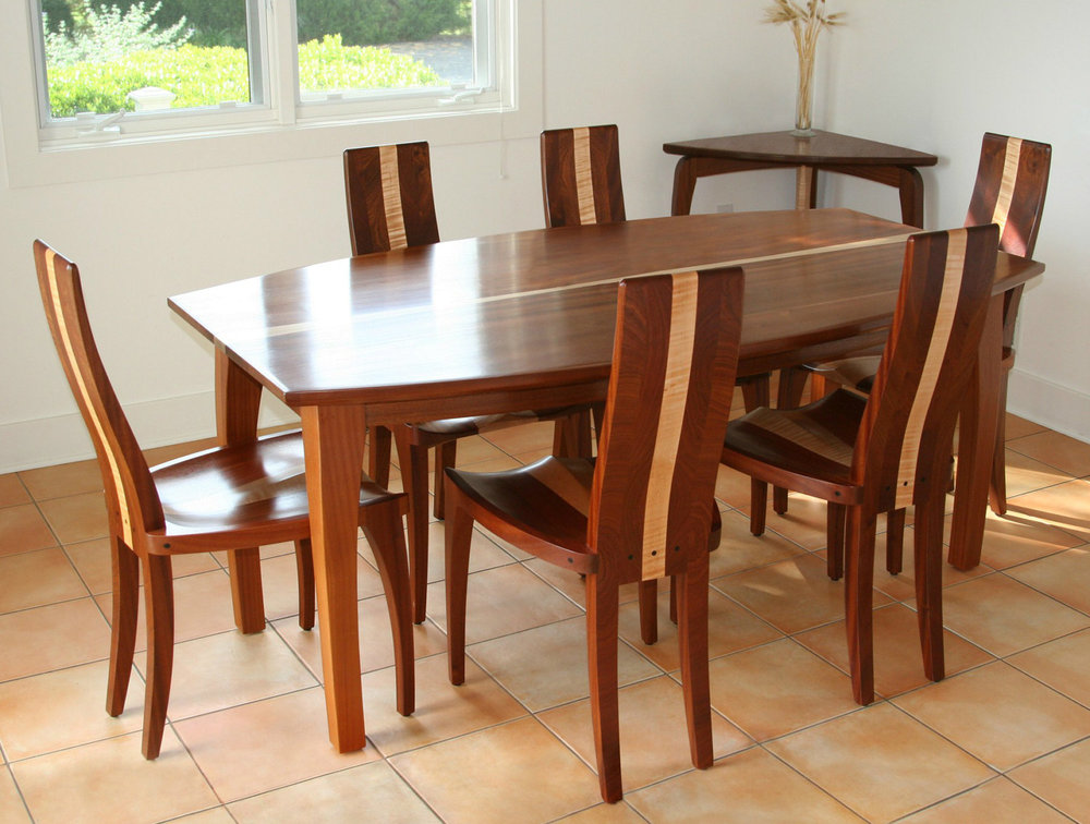 Dining Table Handmade In Solid Wood With Curved Sides Beetleback Nathan Hunter Design