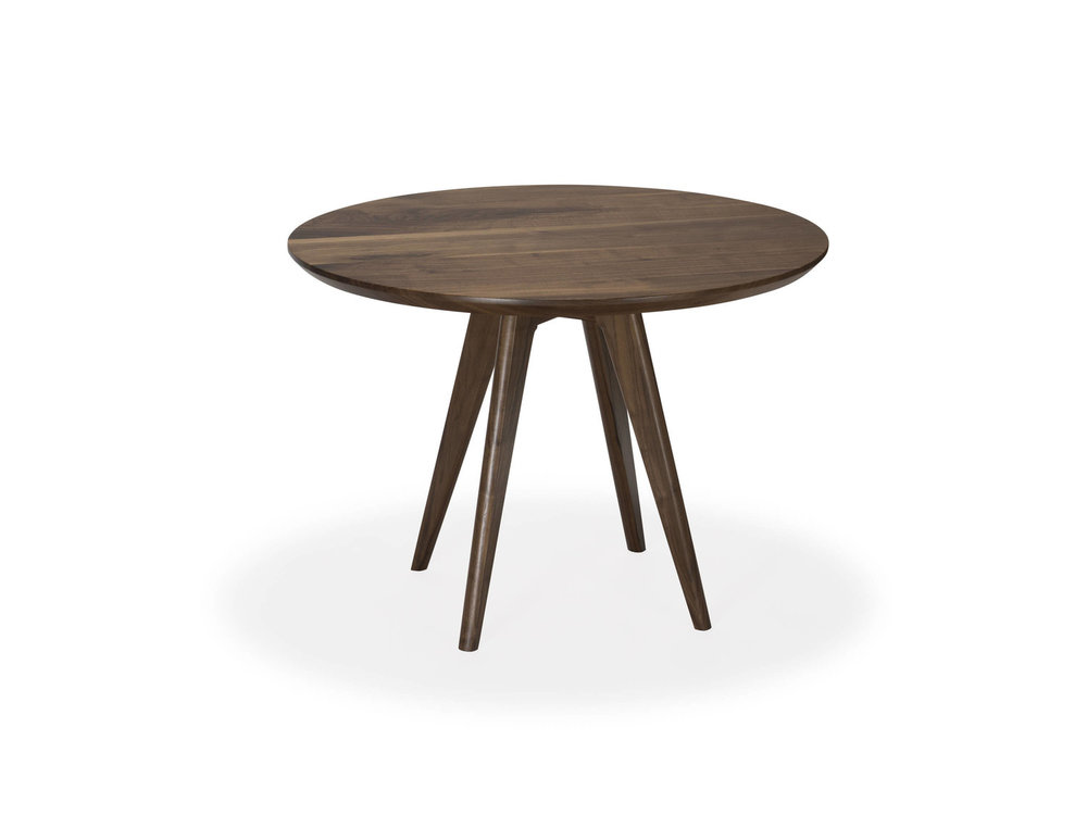 Solid Walnut 30 Inch Round Dining Table Nathan Hunter Design