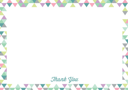 pastel triangle thank you note cards the native state