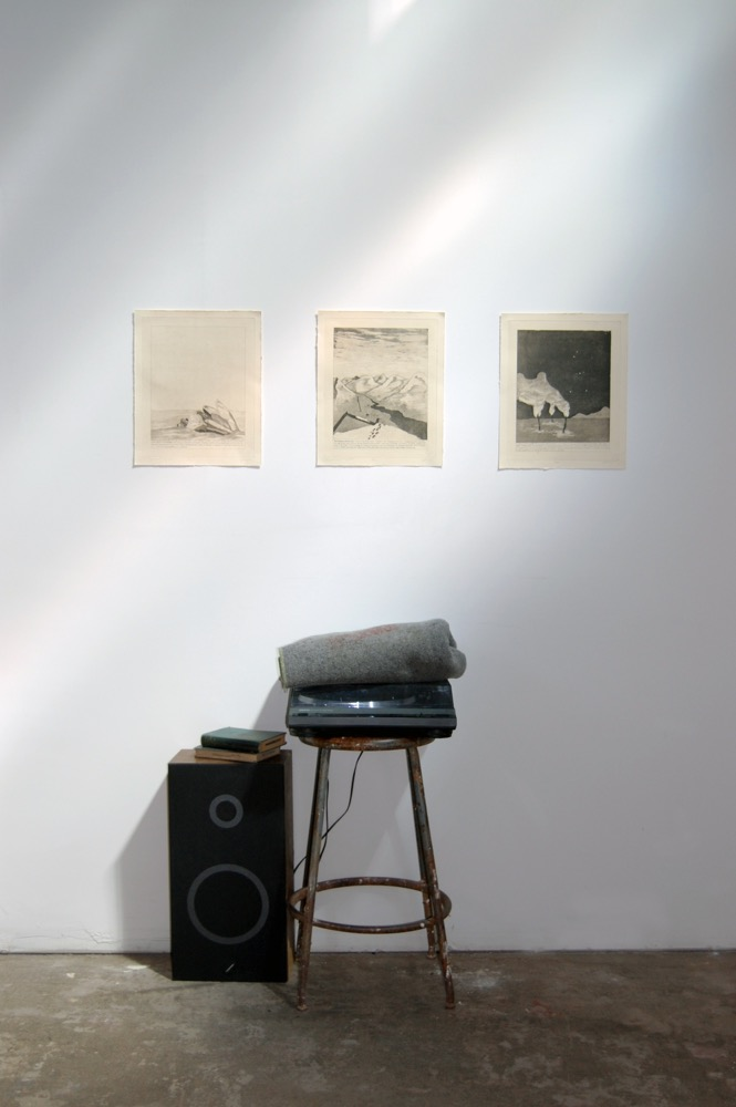 Intaglio Prints and Record Player Installation View.jpg