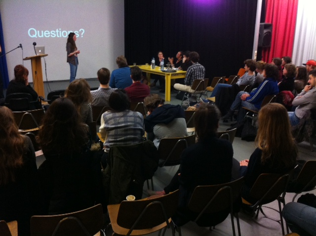 Presentation of Hester van Tongerlo during Power Pitch #09 at the Van Eyck Academy