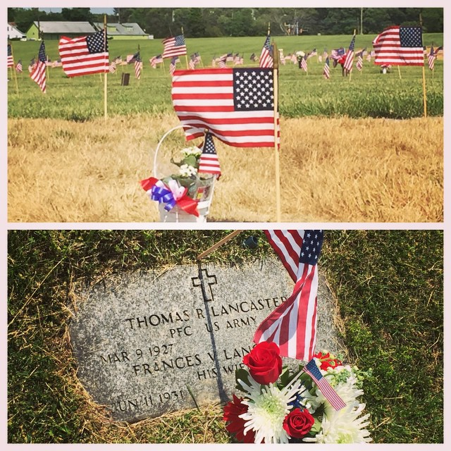 Visiting my grandparents & taking in the day. Thank you for serving in the Korean War, PFC US Army Mr. Thomas Lancaster aka Pop. (at Cheltenham Veterans Cemetery)