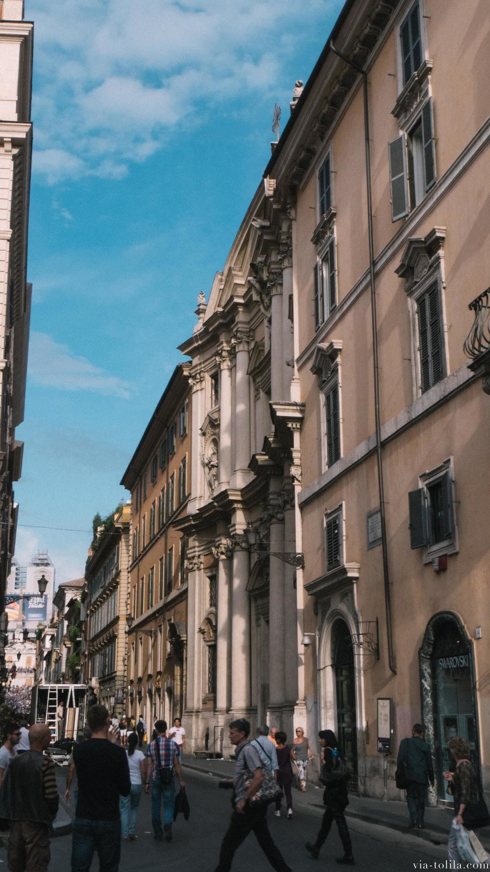 via del corso - Rome