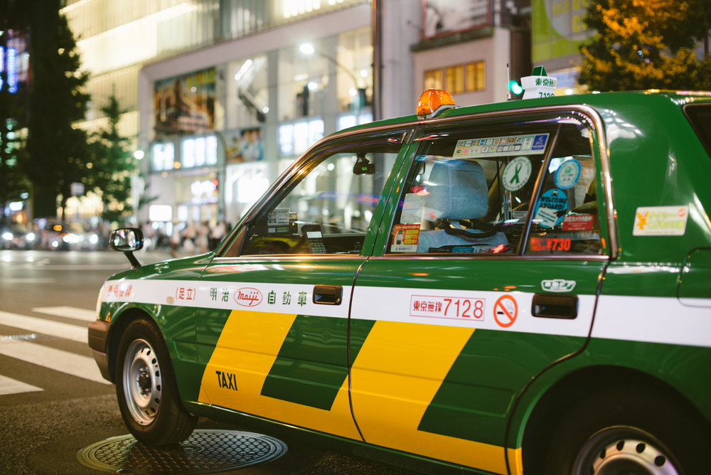 Shiny and clean taxi of Tokyo.
