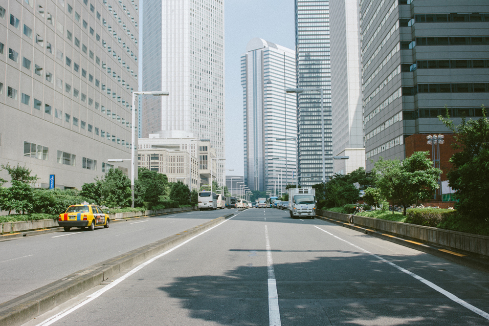 Urban lines of Tokyo.