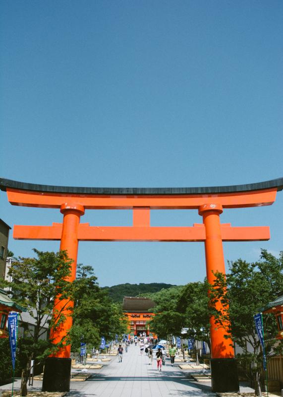 Door to the Fushimi Inari Shrine.