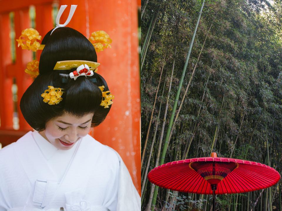 Japanese bridal hair style.