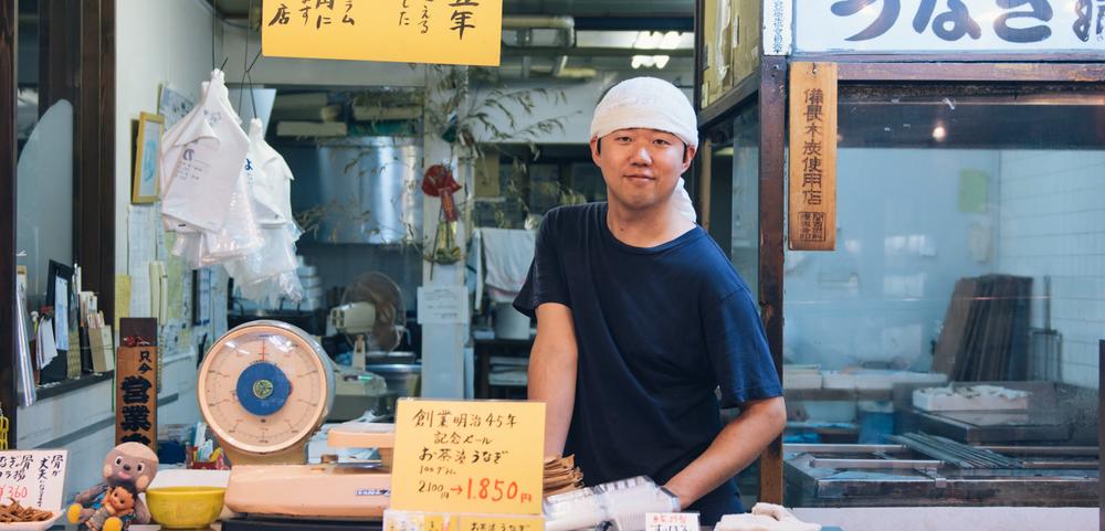 Kyoto Nishiki Market.