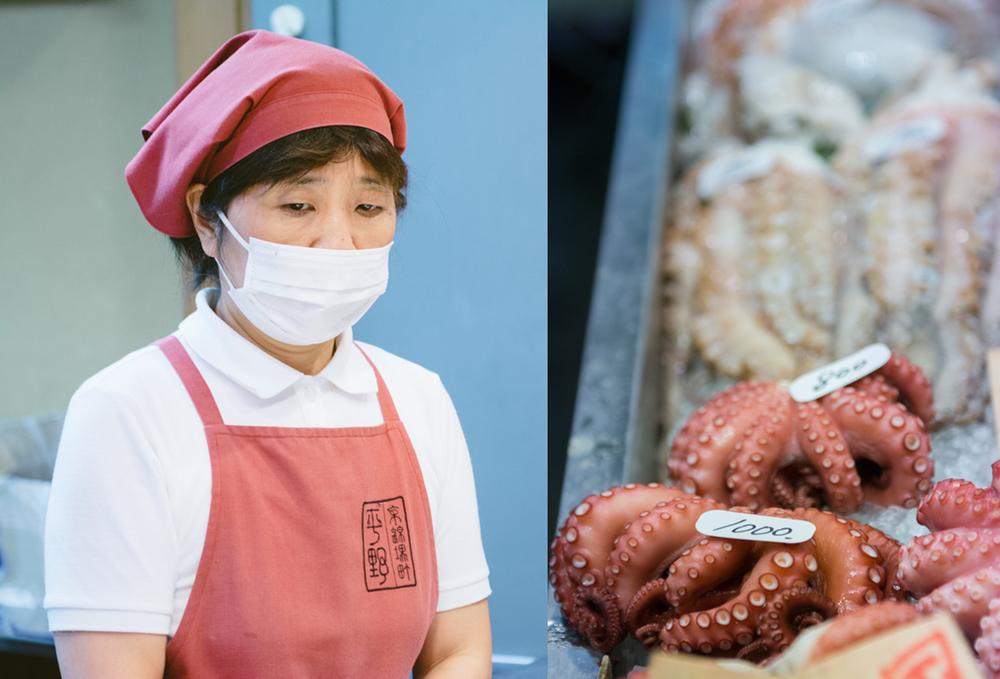 Octopus on stalls, Nishiki Market.