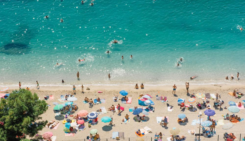 Colorful umbrellas, Villefranche sur mer.