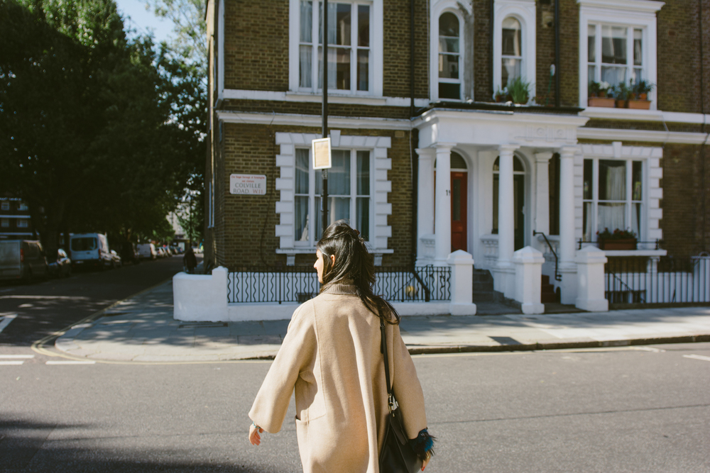 Walking in sunny Notting Hill.