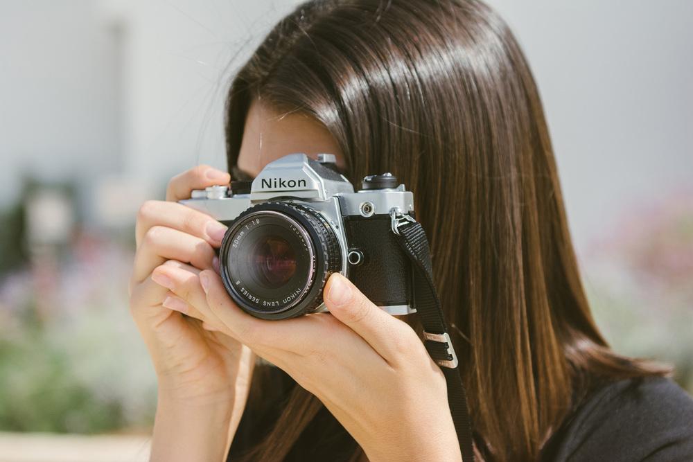 Annael behind the lens. Nikon FM 1980.