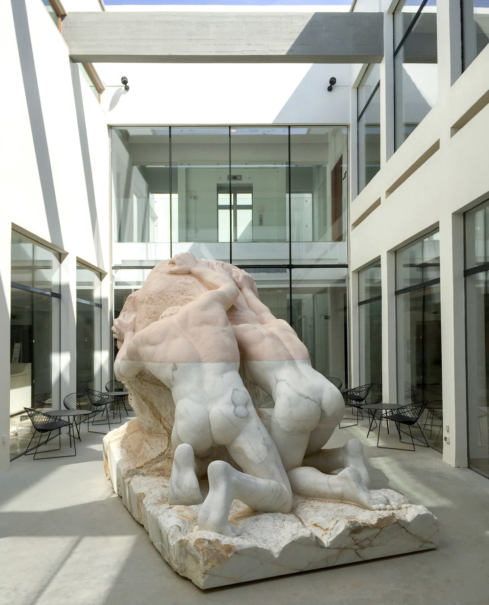 Rose and white marble - Sigalit Landau.