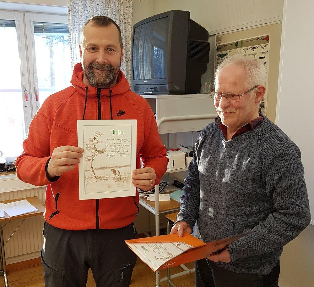 Palle Andersson - Tjärbäckens Neo, klubbmästare med 78 poäng på utlyst jaktprov