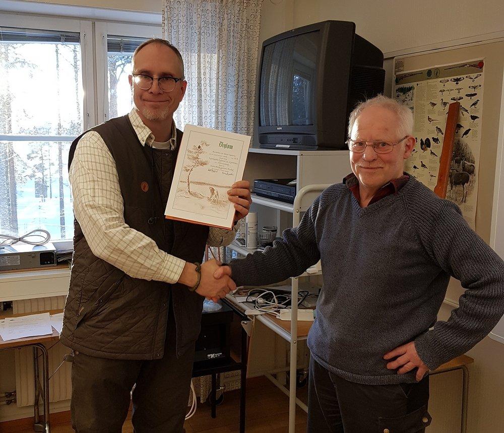 Niklas Lundberg - Klingsboda Tina, 76 poäng rörligt jaktprov