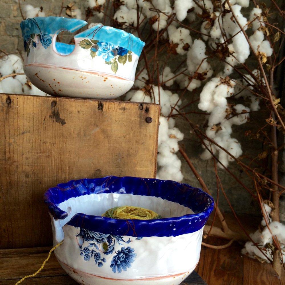 yarn bowls at fuzzy goat
