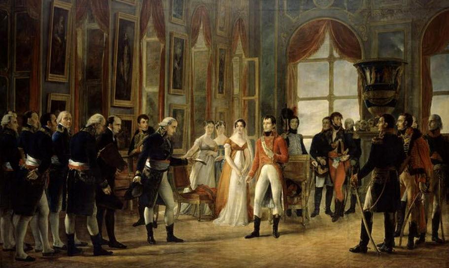 На фото: Жорж Руже. Наполеон принимает в Сен-Клу сенаторов и консулов, провозгласивших его Императором французов