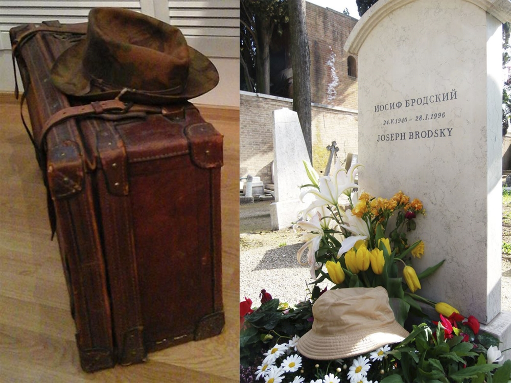 На фото: Чемодан, с которым Бродский отправился в эмиграцию. Там находилась пишущая машинка, две бутылки водки для Уистена Хью Одена и сборник стихов Джона Донна.