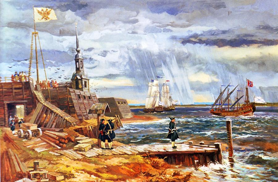 Александр Блинков. Начало строительства Санкт-Петербурга