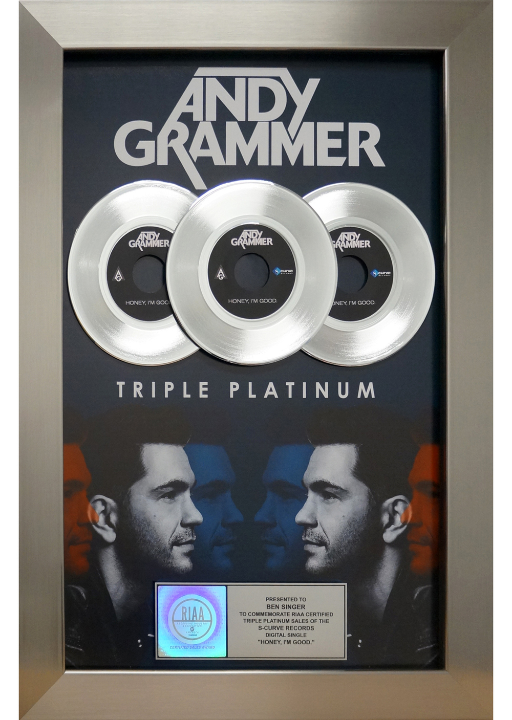 Andy Grammer 3X Platinum