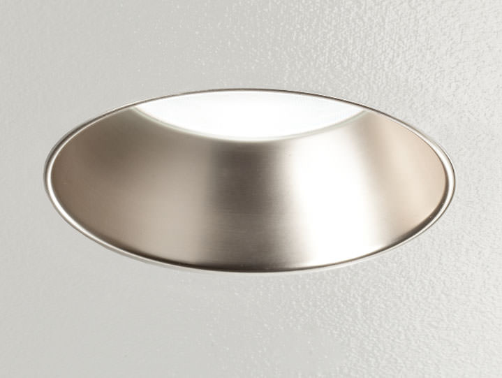 Round Trimless Downlight in Wheat Alzak with Frosted Lens