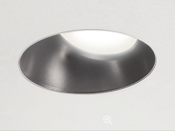 Round Trimless Wall Wash or Adjustable in Stainless with Frosted Lens
