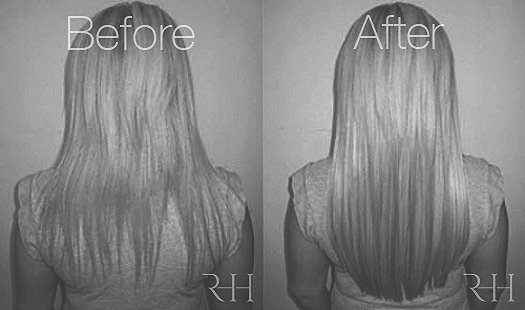 Invisible micro ring hair extensions