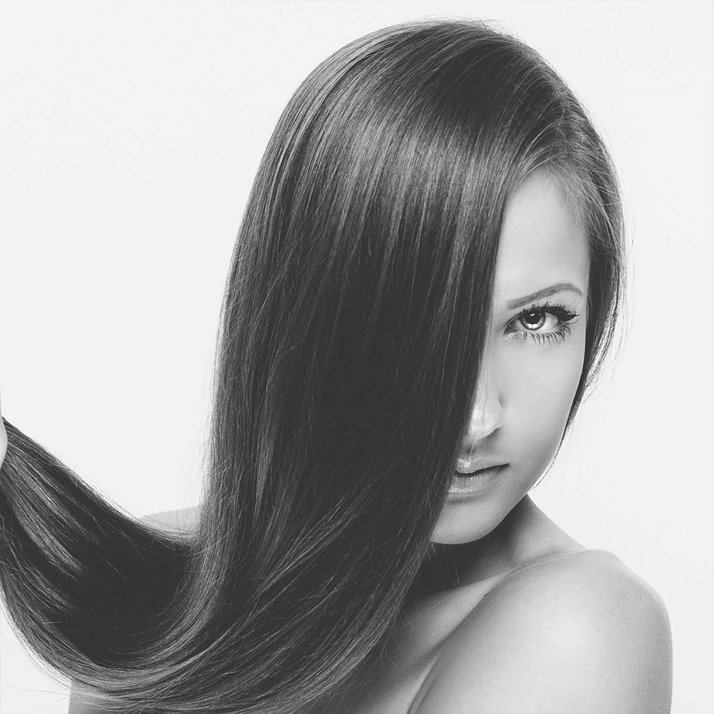 Straight micro ring hair extensions by Richard Harrison Hair