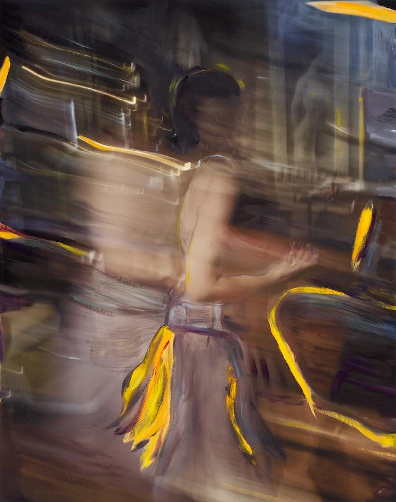 Andrew Hart Adler  'Ode to Degas IX'  Mixed media on canvas  123 x 97 cm