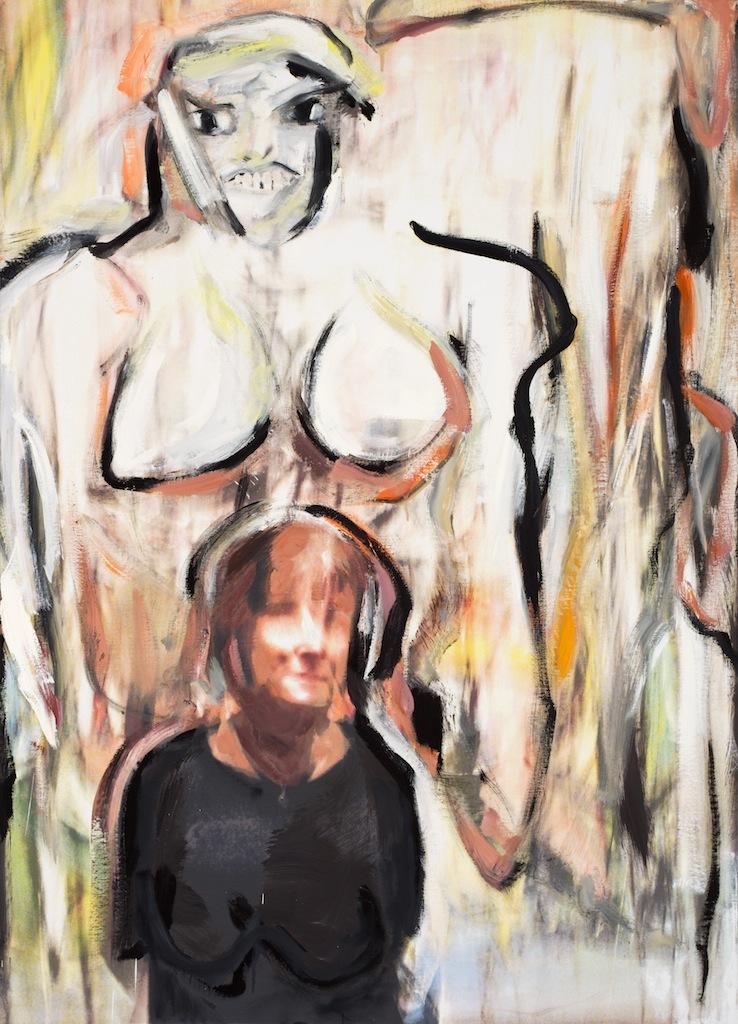 Andrew Hart Adler  'Ode to de Kooning III'  Mixed media on canvas  134 x 97 cm