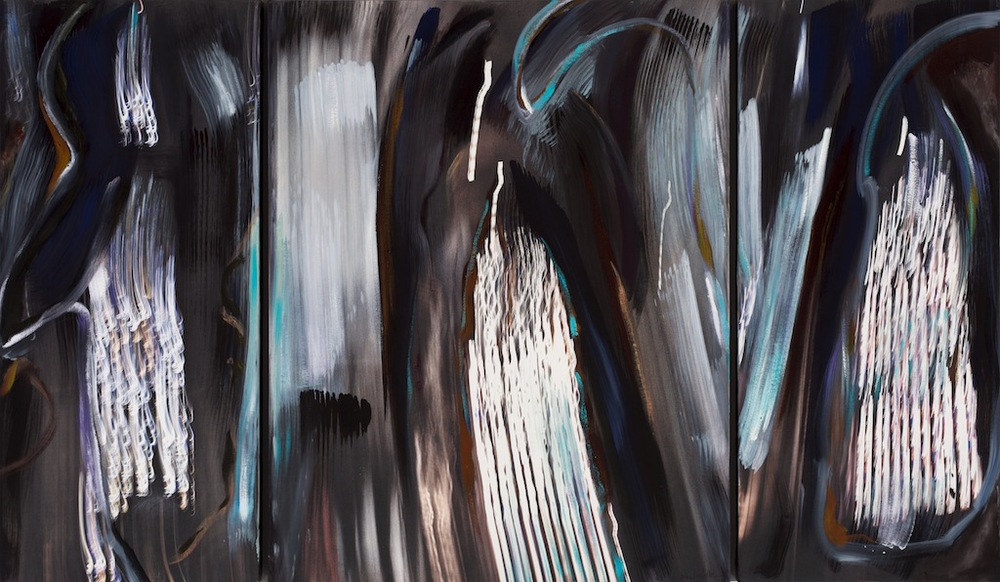 Andrew Hart Adler  'Architecture of Light XV' triptych  Mixed media on canvas  123 x 205 cm