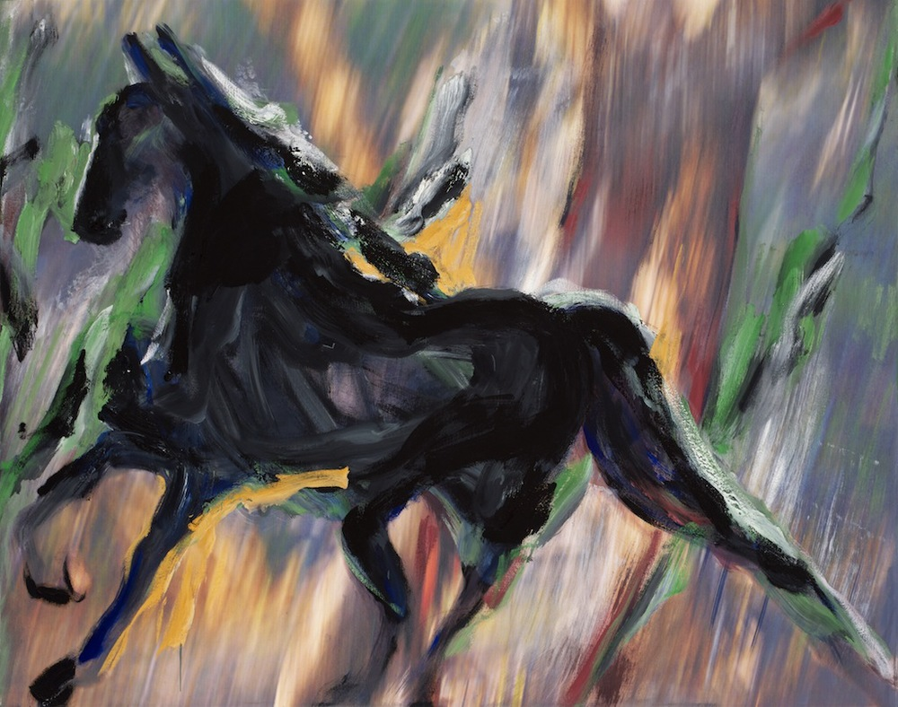 Andrew Hart Adler  'Equine IV'  Mixed media on canvas  97 x 123 cm