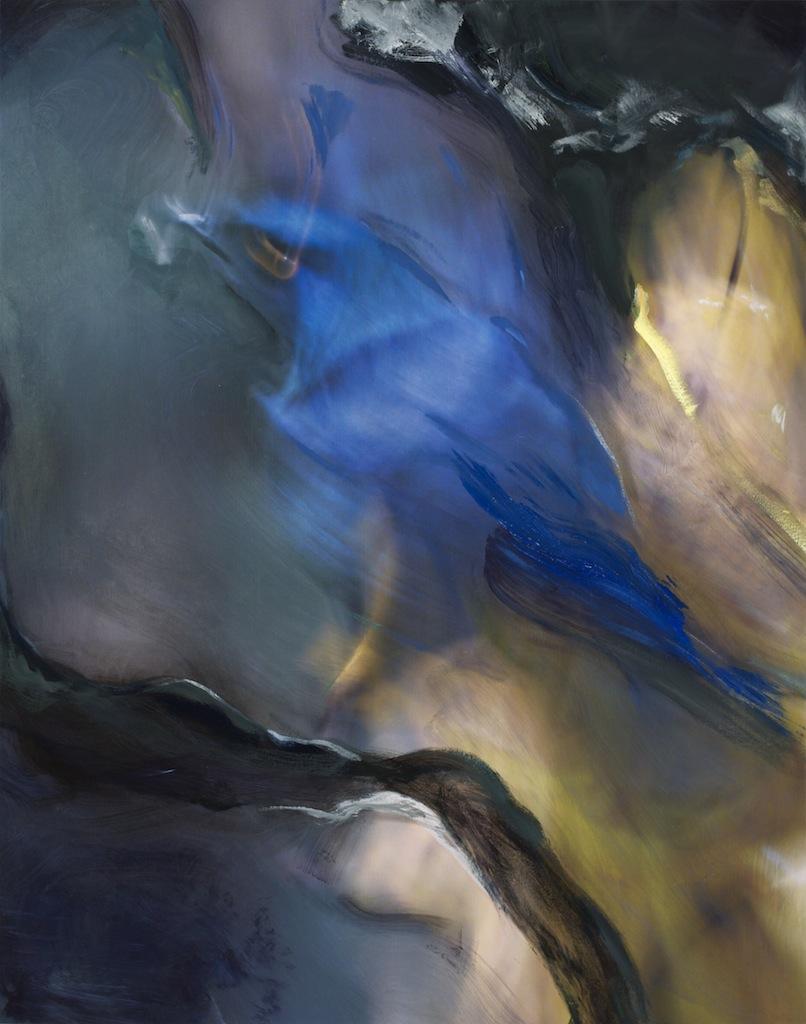 Andrew Hart Adler  'Aviary III'  Mixed media on canvas  123 x 97 cm