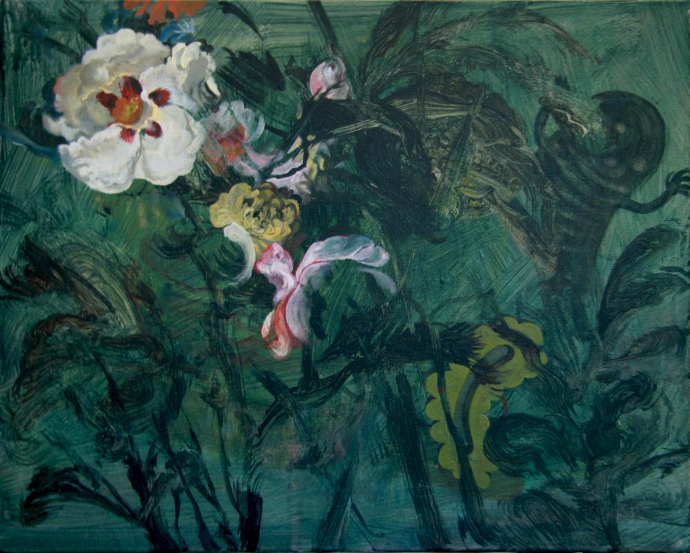 Wim Legrand  'Flowers'  Oil on canvas  50 x 60 cm
