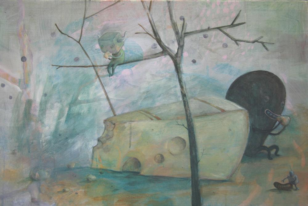 Wim Legrand  'Cheese'  Oil on canvas  40 x 60 cm