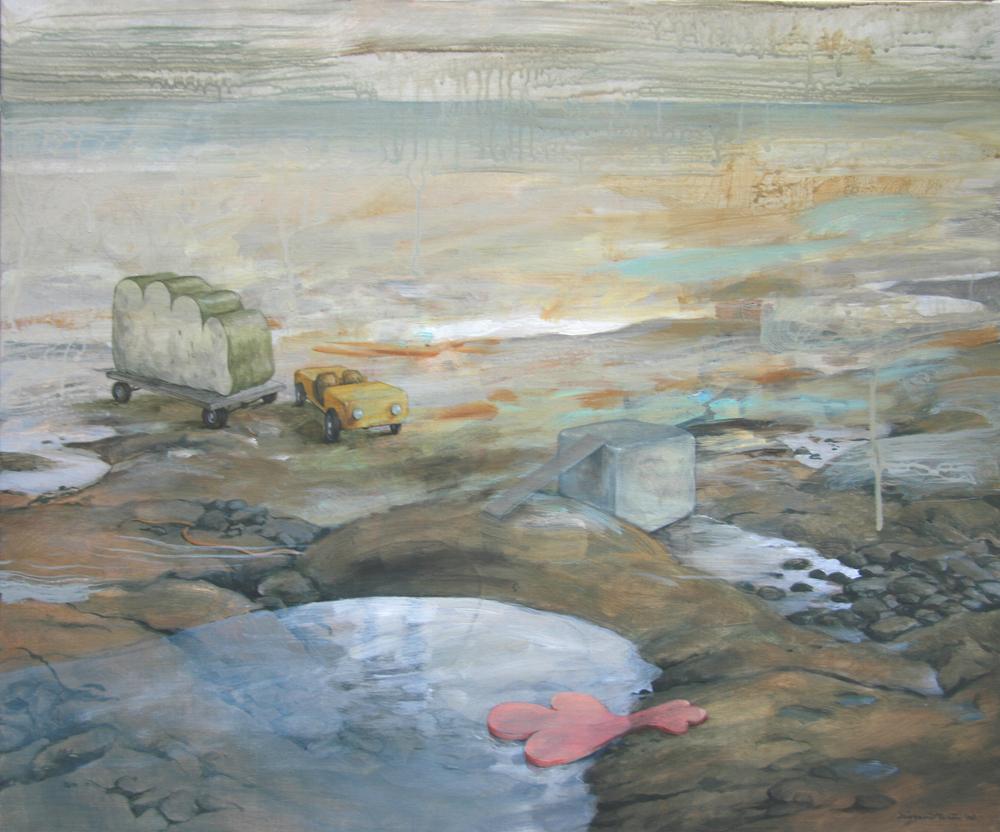 Wim Legrand  'Beach'  Oil on canvas  50 x 60 cm